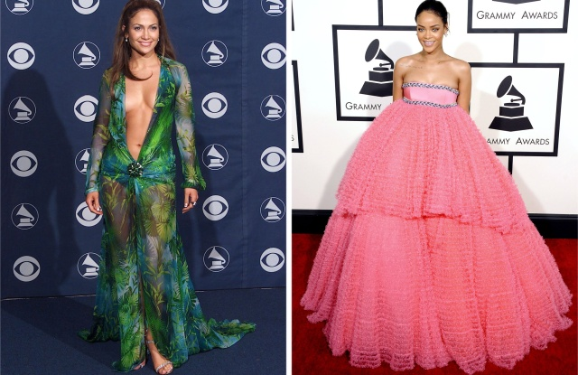 grammys 2020 17 memorable moments in grammy red carpet fashion wwd grammy red carpet fashion
