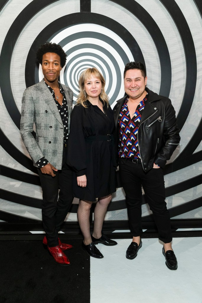SAN FRANCISCO, CA - January 15 - Justin White, Monica Kravchenko and Carlos Rodriguez attend FOG Design+Art Preview Gala 2020 on January 15th 2020 at Fort Mason Festival Pavilion in San Francisco, CA (Photo - Arthur Kobin for Drew Altizer Photography)