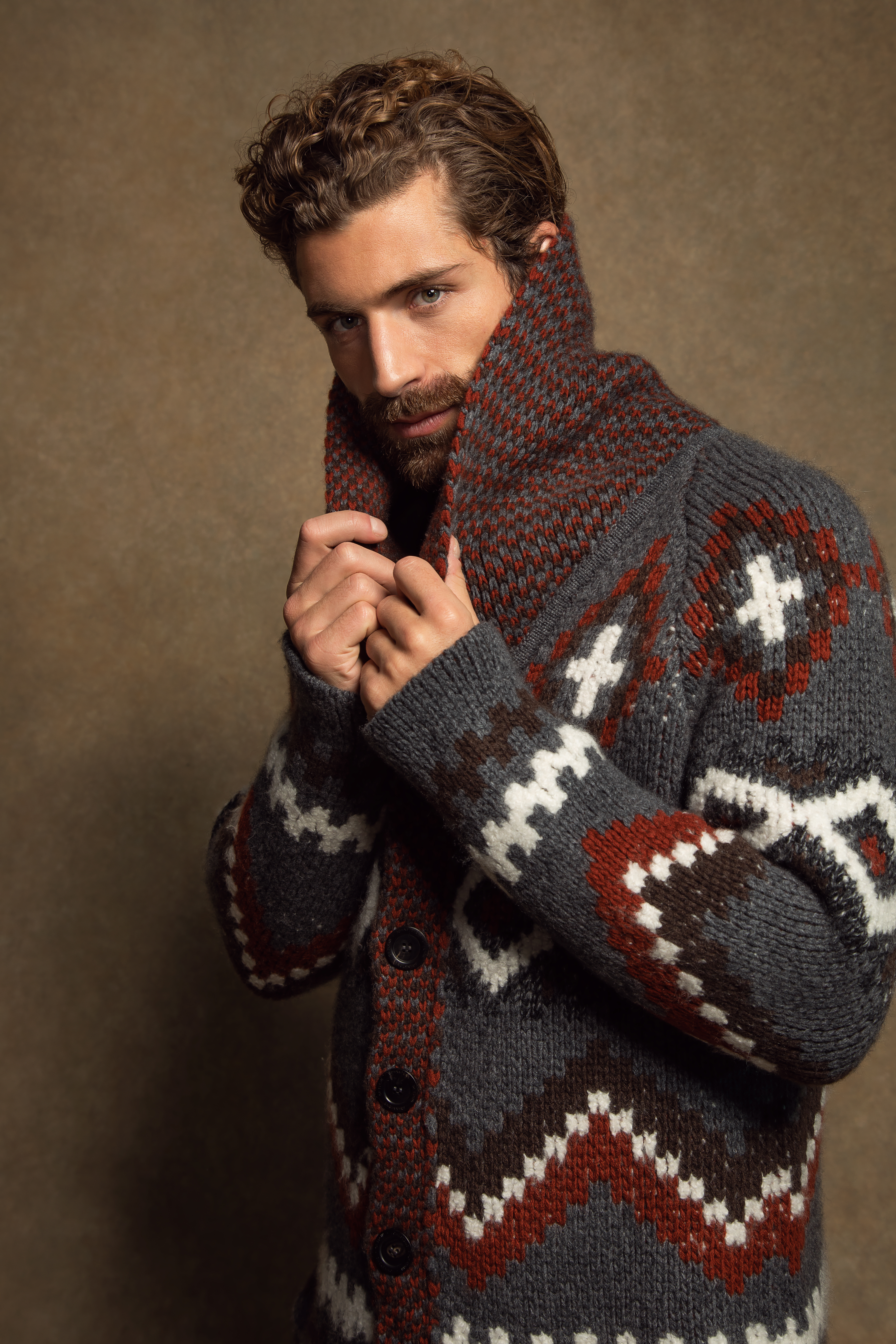 A beefy cardigan from Johnstons of Elgin.