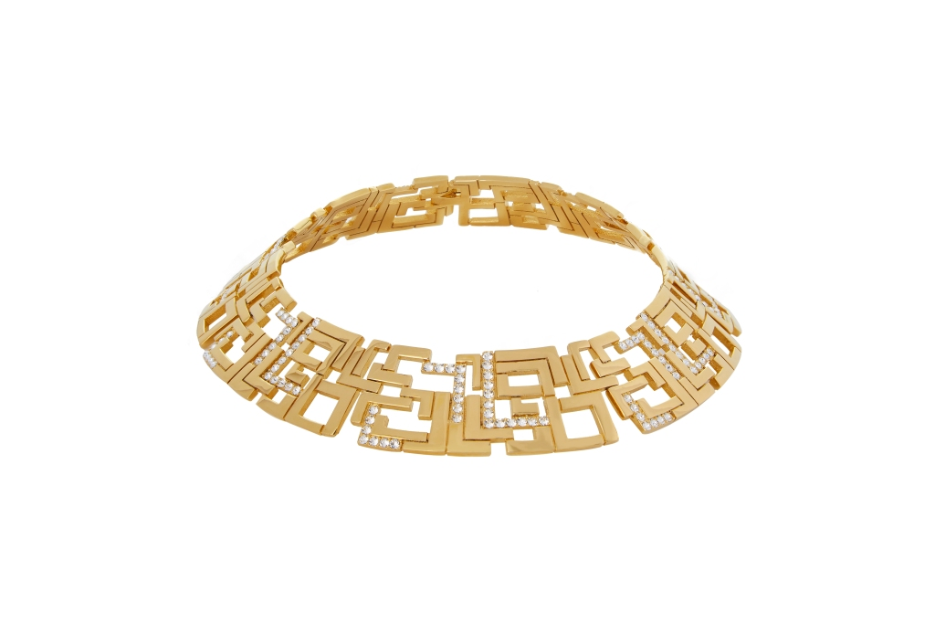 A necklace from Leda Madera's Goldie range
