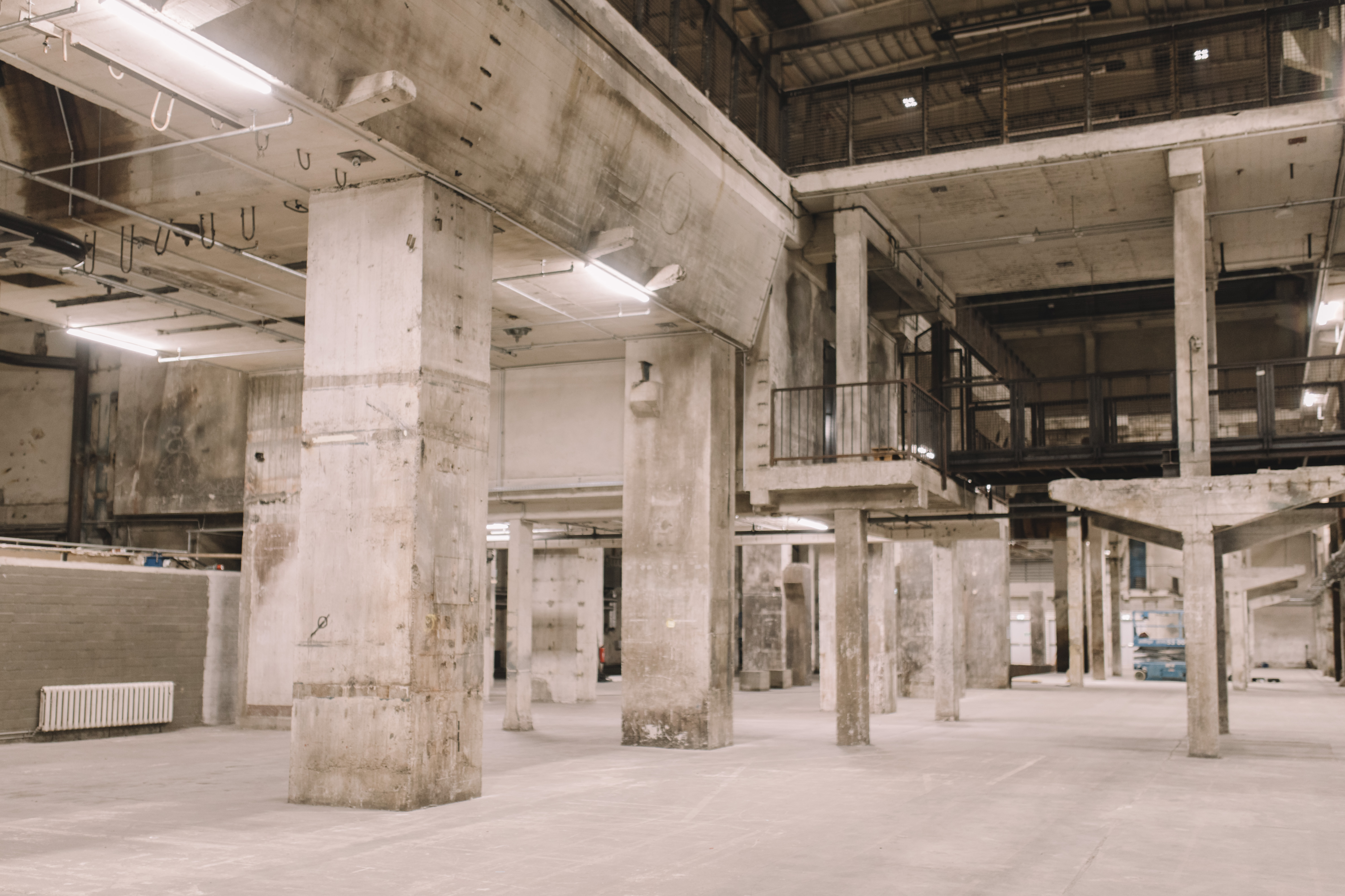 Inside of the Kraftwerk, a power station converted event space in Berlin