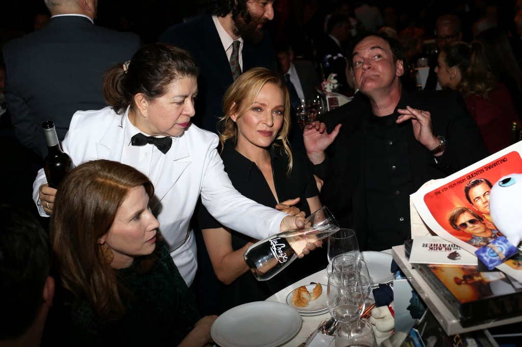Uma Thurman and Quentin Tarantino