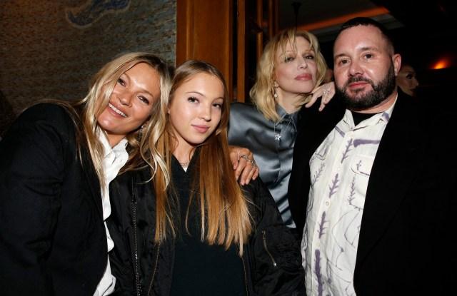 Kate Moss, Lila Grace Moss Hack, Courtney Love and Kim Jones.
