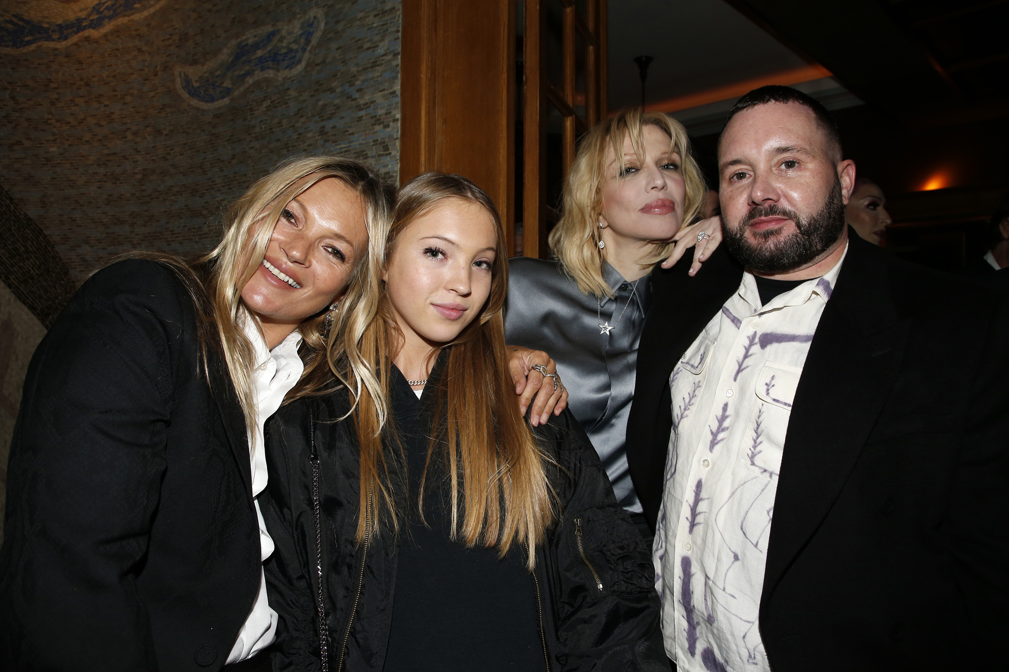 Kate Moss, Lila Grace Moss Hack, Courtney Love and Kim Jones.