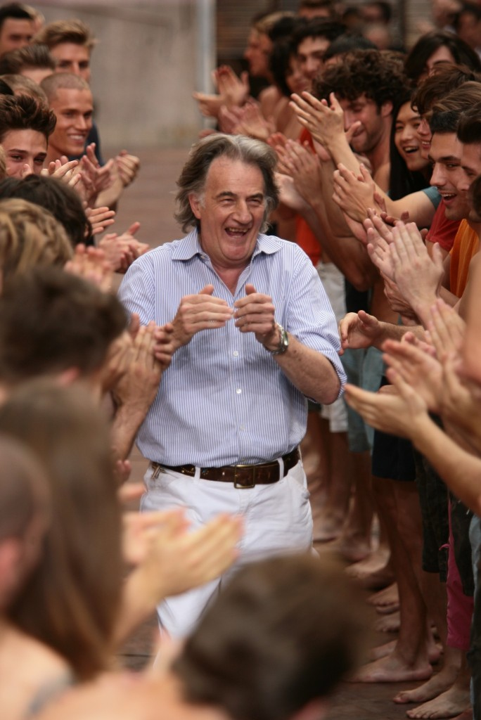 Paul Smith on the runway after his spring 2007 show.
