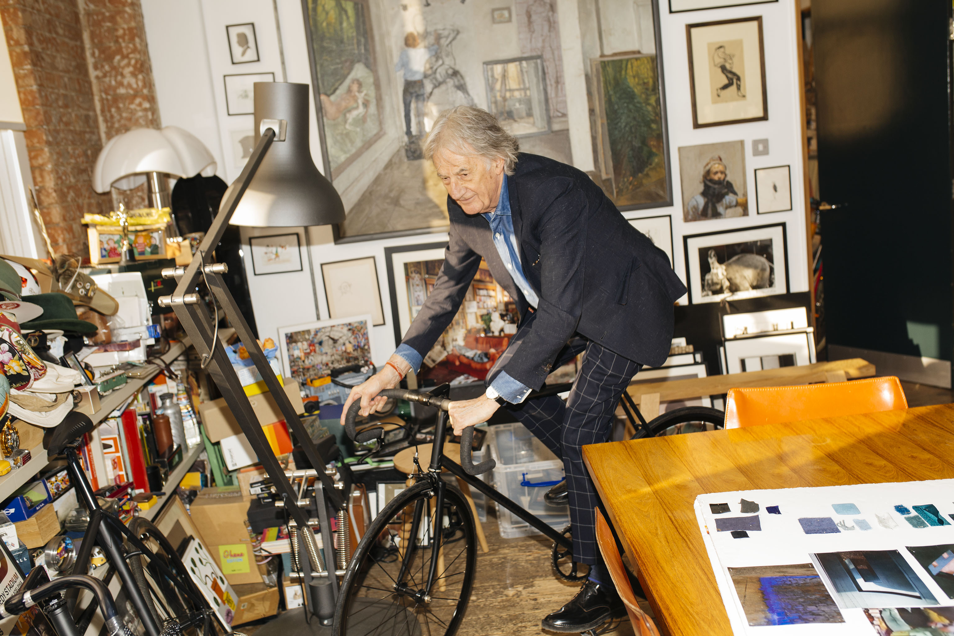 Paul Smith at his studio in London.