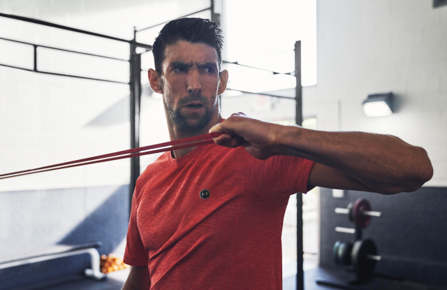 Michael Phelps in new Under Armour campaign.