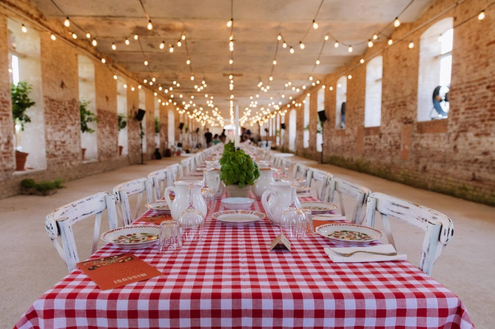 The long table at the core of the Miscusi Farm.
