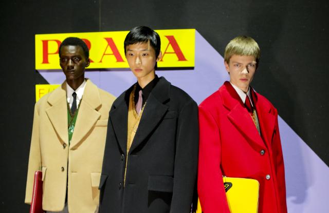 Backstage at Prada Men's Fall 2020