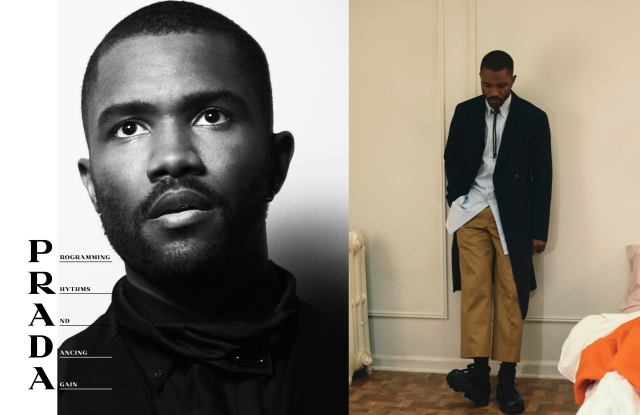 Frank Ocean fronting the Prada men's wear spring 2020 advertising campaign.