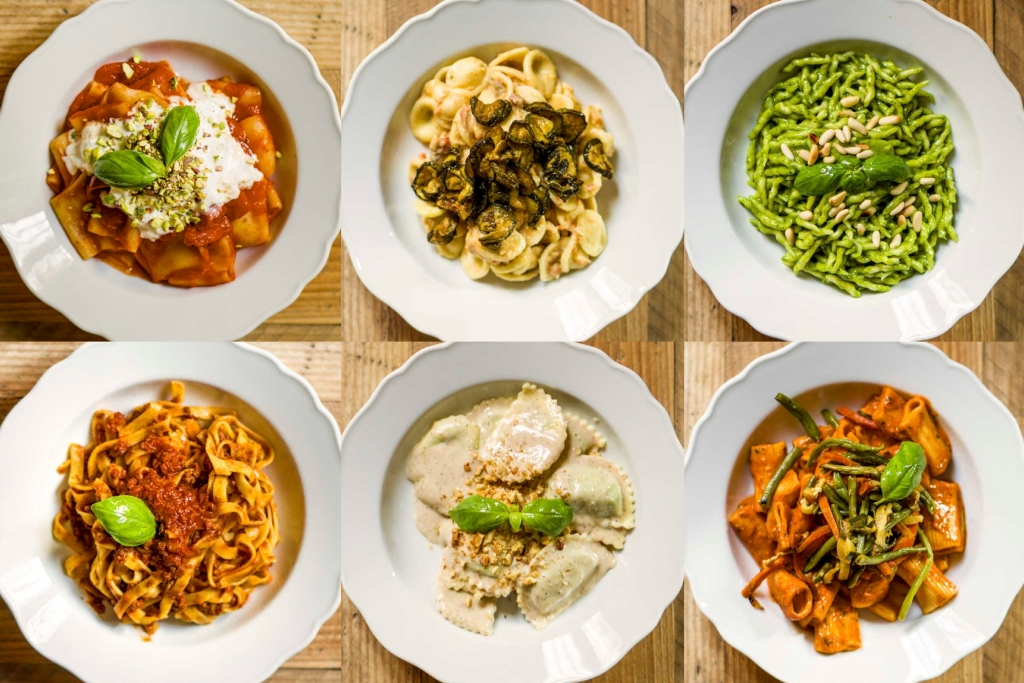A selection of home-made pasta recipes offered by Miscusi.