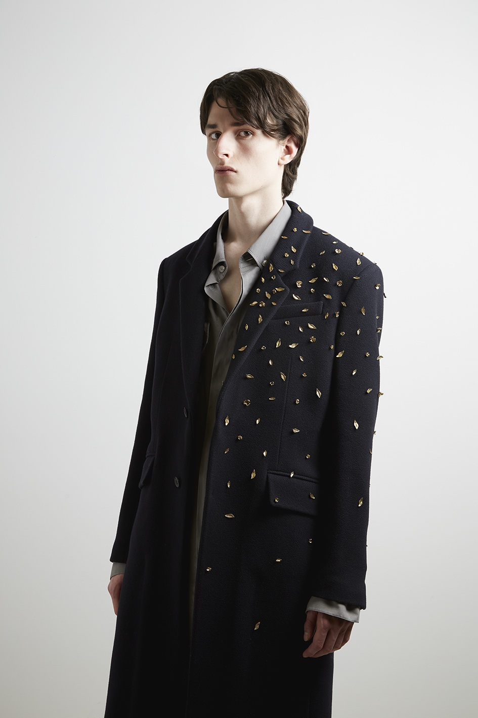 A fall 2020 look by Federico Curradi for Rochas Homme.