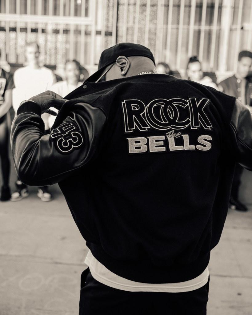 LL Cool J sporting the varsity jacket.