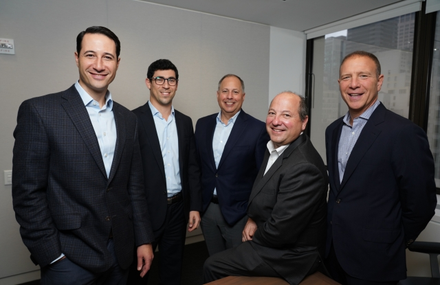 Sagamore Hill Partners, from left to right: Mark Kaplan, Alex Janoff, Gene Spiegelman, Todd Cooper and Peter Ripka.