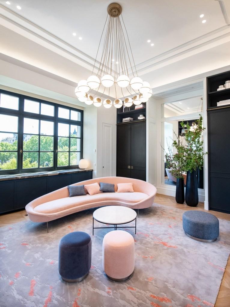 A private reception room at Le Bon Marché.