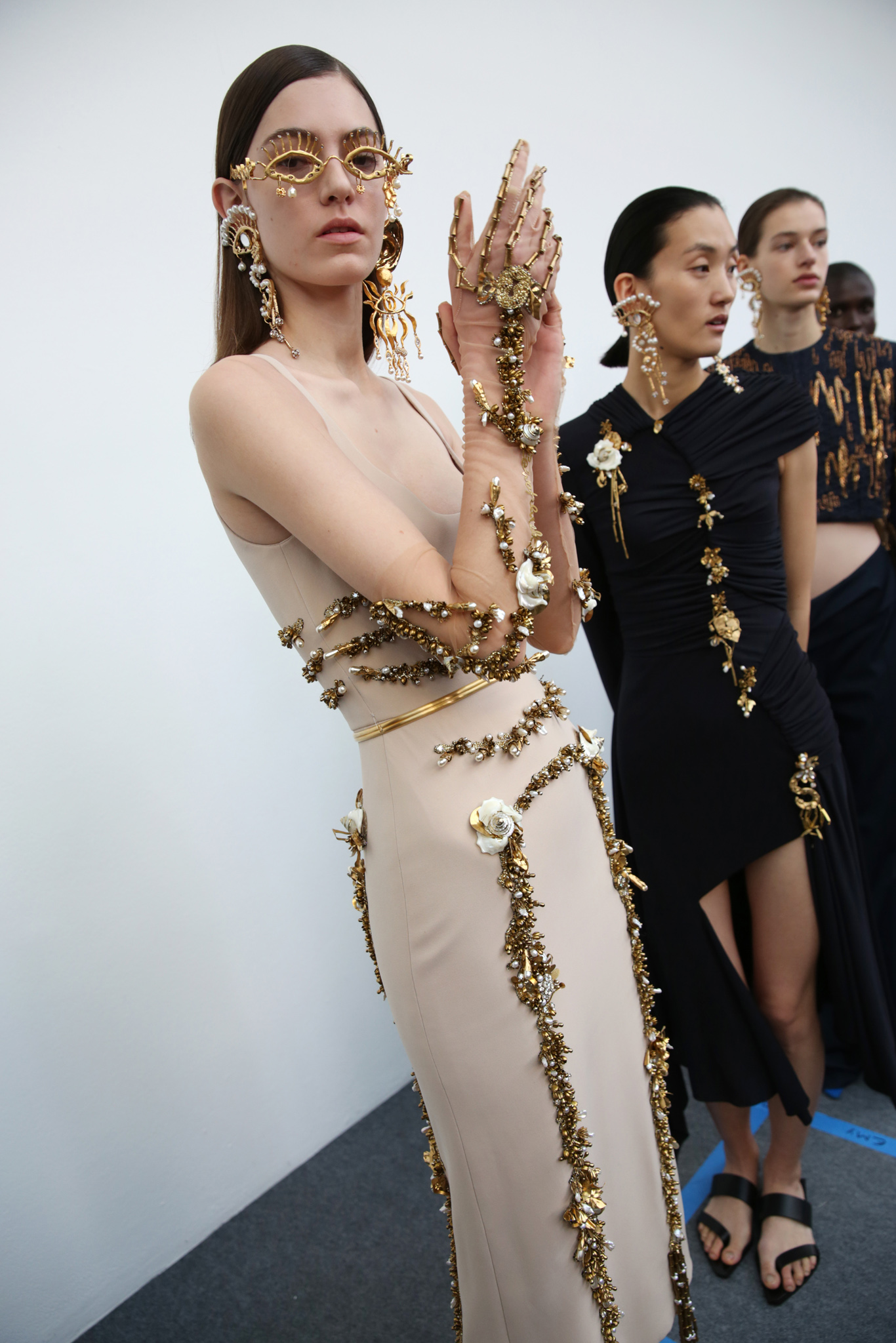 Backstage at Schiaparelli Couture Spring 2020