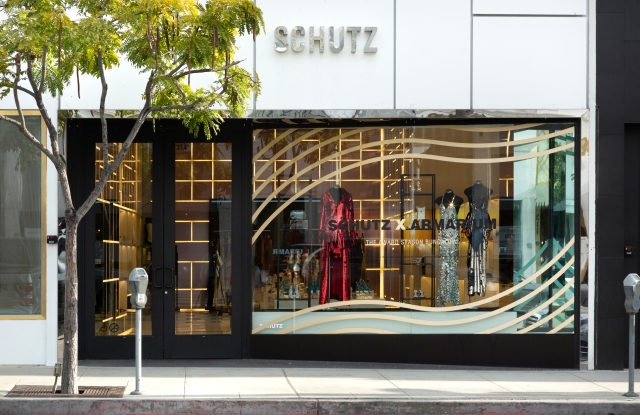 Schutz x Armarium's awards season bungalow is housed inside the footwear brand's North Beverly Drive store in L.A.