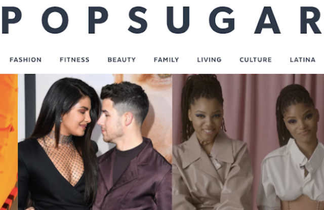 PopSugar's web site.