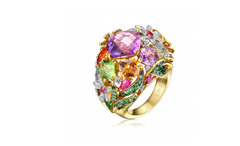 An Enzo Jewelry design. The brand is known for its vibrantly colored gem stone designs and caters to the independent Mainland Chinese female customer.