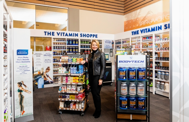 Sharon Leite at The Vitamin Shoppe inside an L.A. Fitness club.