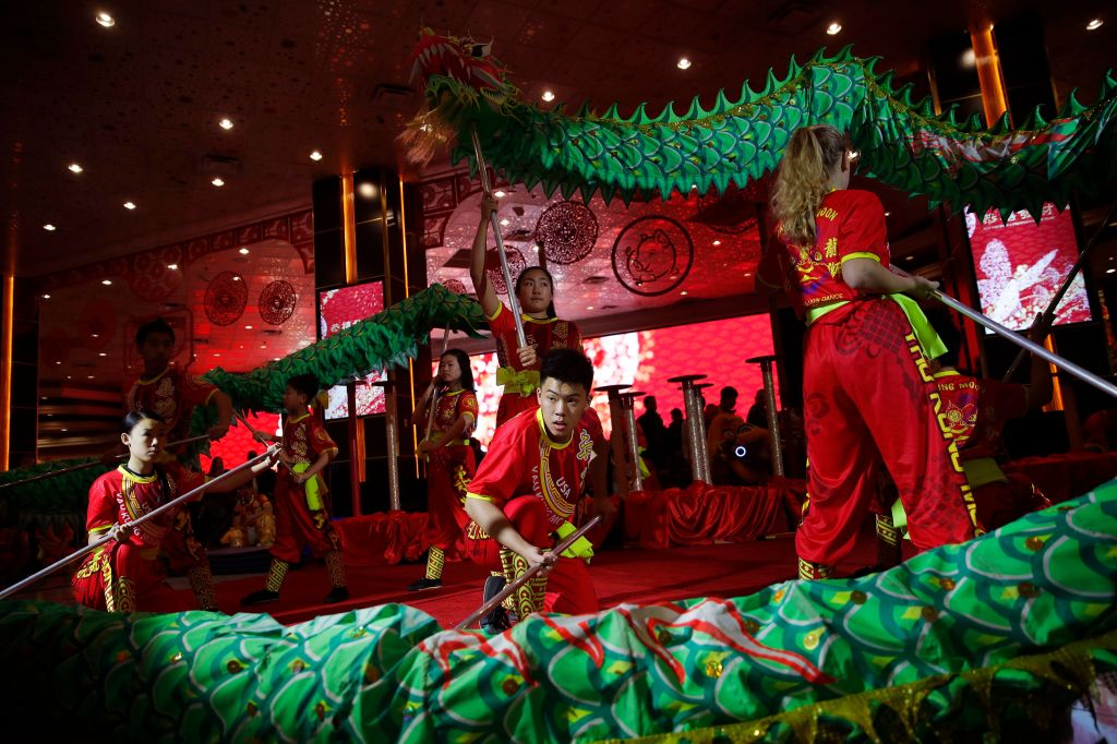 A Lunar New Year themed performance at MGM early last year.