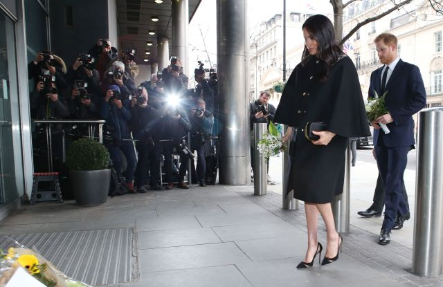 Prince Harry and Meghan Duchess of Sussex visit the New Zealand High Commission London to sign a book of condolence after last weeks terrorist shootings in New ZealandPrince Harry and Meghan Duchess of Sussex visit to New Zealand House, London, UK - 19 Mar 2019