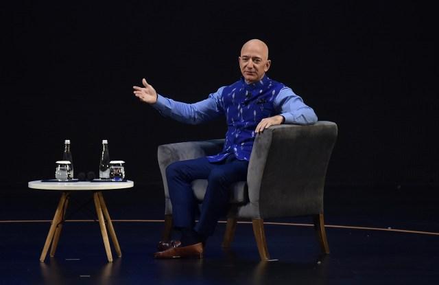 Jeff Bezos in New Delhi