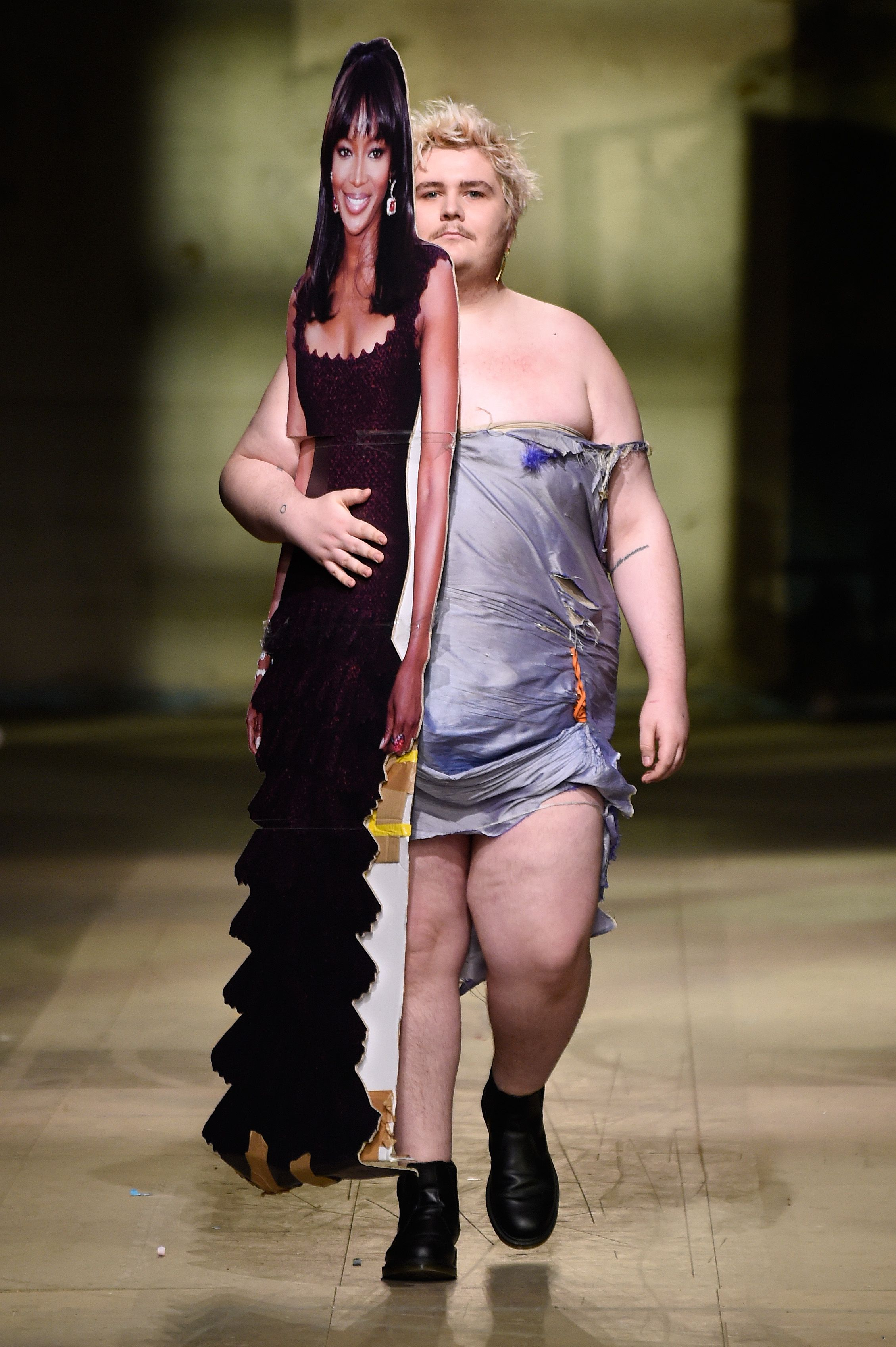 Rottingdean Bazaar - Model on the catwalkMan show, Runway, Fall Winter 2018, London Fashion Week Men's, UK - 07 Jan 2018