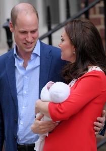 Catherine Duchess of Cambridge and Prince William leaving hospital with their newborn baby boy, Prince LouisCatherine Duchess of Cambridge gives birth to her third child, Lindo Wing, St Mary's Hospital, London, UK - 23 Apr 2018