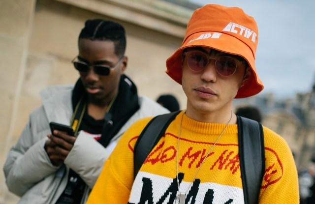 Street style at Milan Fashion Week Men's Fall 2020