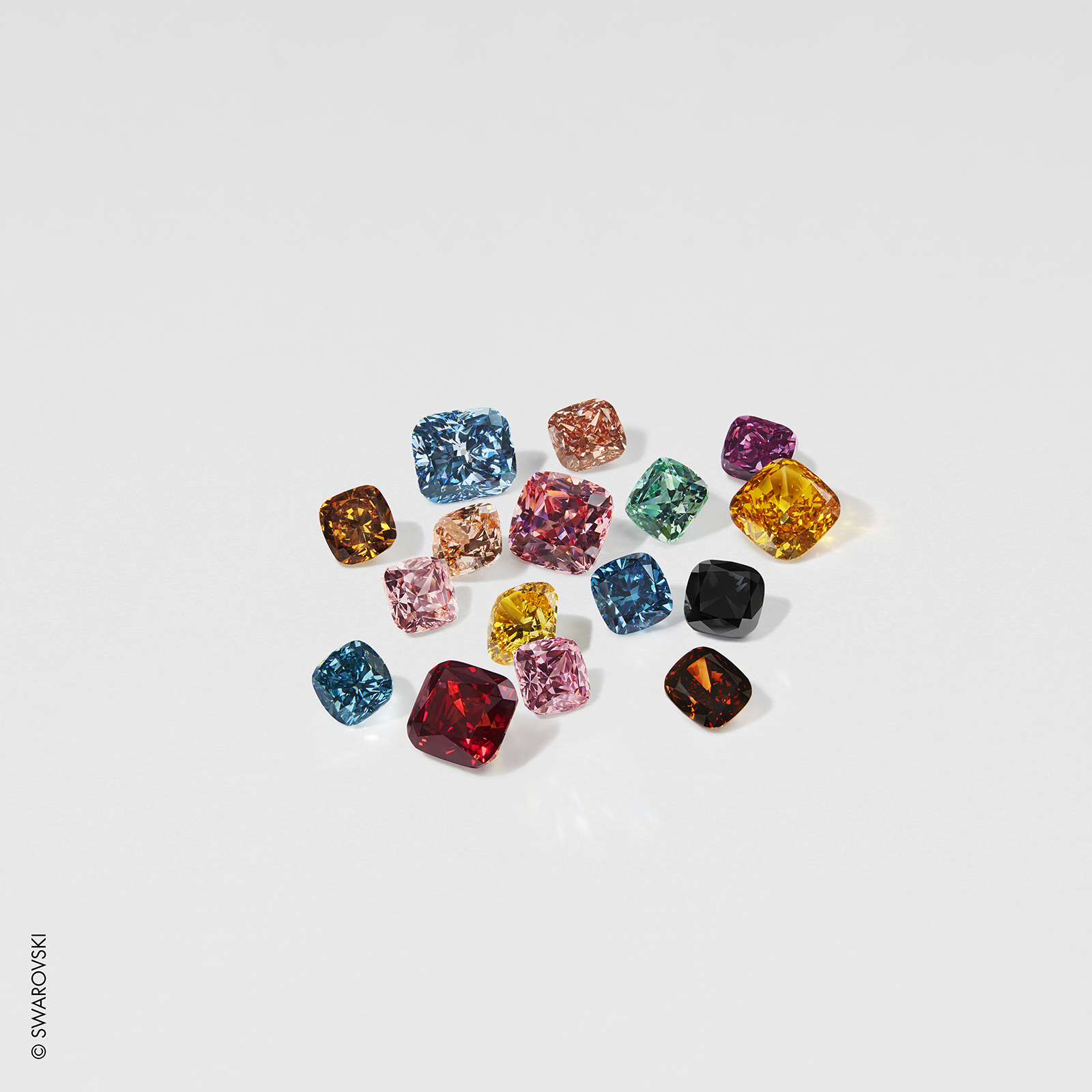 Swarovski lab-grown diamonds.