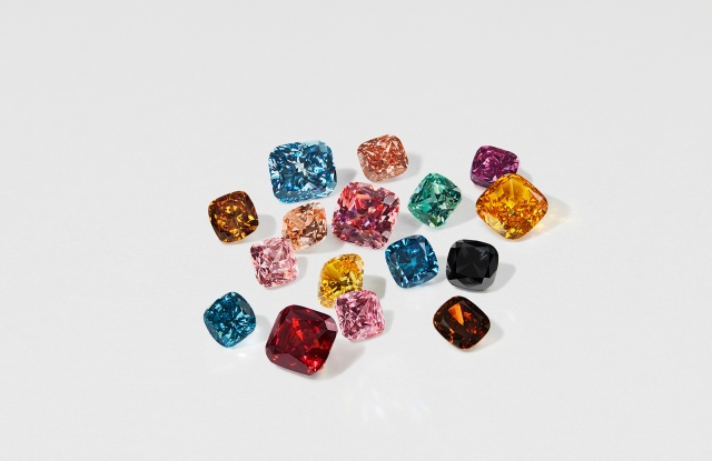 Swarovski lab-grown diamonds.
