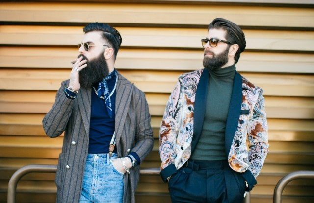 The scene at Pitti Uomo 97.