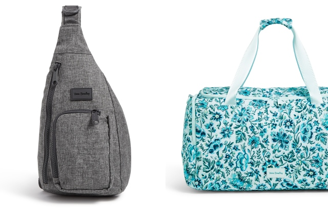 The mini sling backpack and floral travel duffel from Vera Bradley's ReActive line.