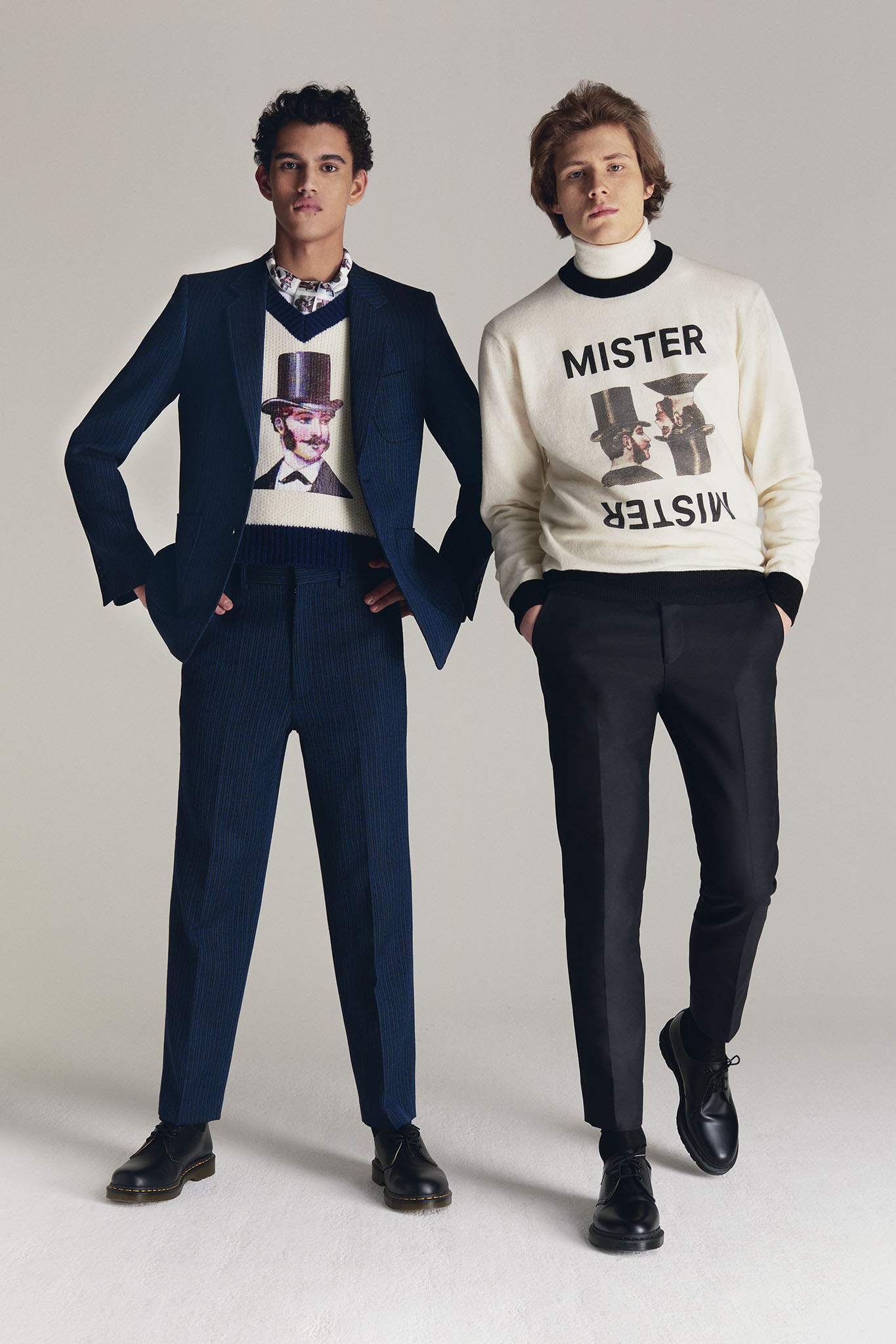 Looks from Viktor & Rolf's Mister Mister line.
