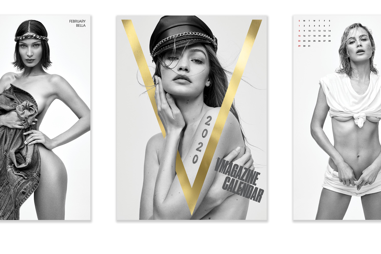 Some of V Magazine's calendar girls.