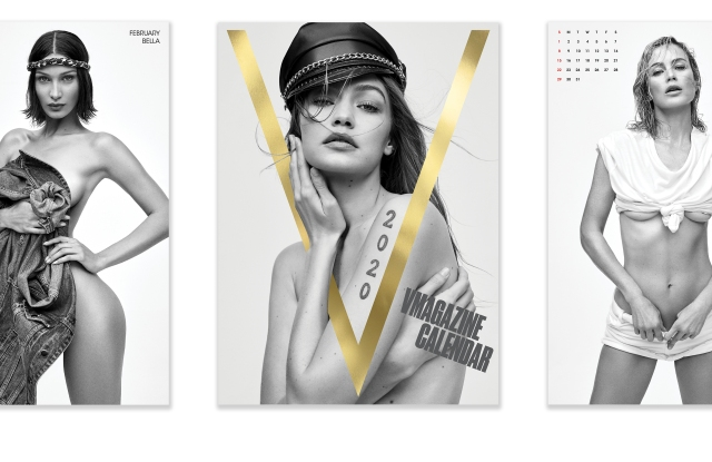 Some of V Magazine's calendar girls.