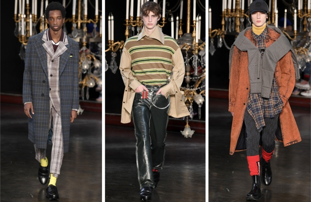 Looks from Wooyoungmi Men's Fall 2019.