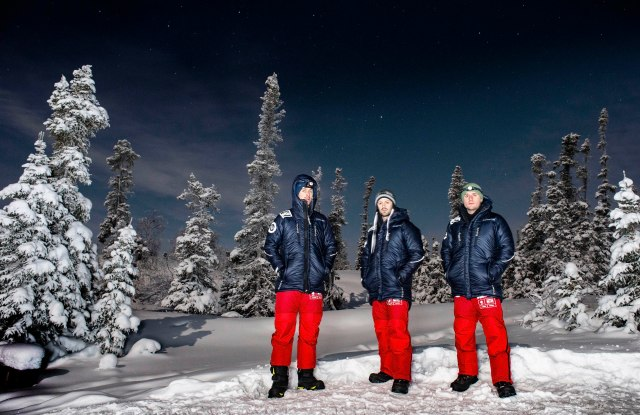 The three British explorers headed to the North Pole to study plastic particles.