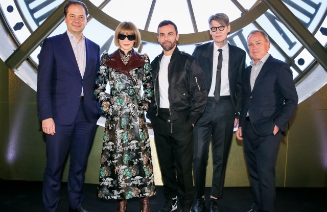 Max Hollein, Anna Wintour, Nicolas Ghesquière, Andrew Bolton and Michael Burke.