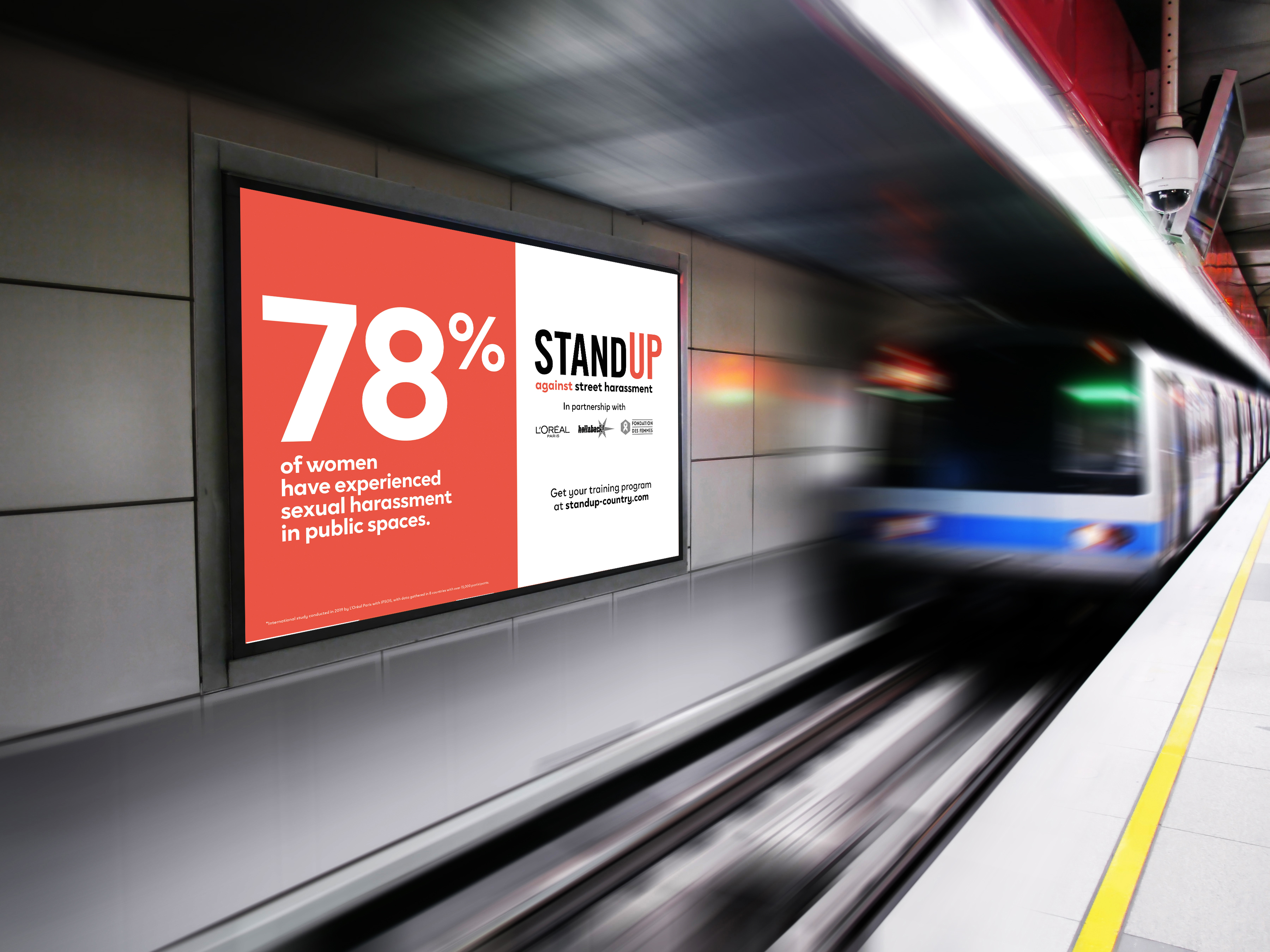 A rendering of a Stand Up poster.