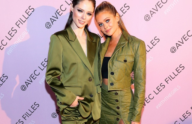 NEW YORK, NEW YORK - NOVEMBER 14: Coco Rocha (L)and Hannah Goodwin attend the AVEC LES FILLES Celebration of The Past, Present, Future at Naked Retail on November 14, 2019 in New York City. (Photo by Bennett Raglin/Getty Images for Avec Les Filles)