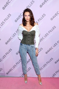 NEW YORK, NEW YORK - NOVEMBER 14: A model poses during the AVEC LES FILLES Celebration of The Past, Present, Future at Naked Retail on November 14, 2019 in New York City. (Photo by Bennett Raglin/Getty Images for Avec Les Filles)