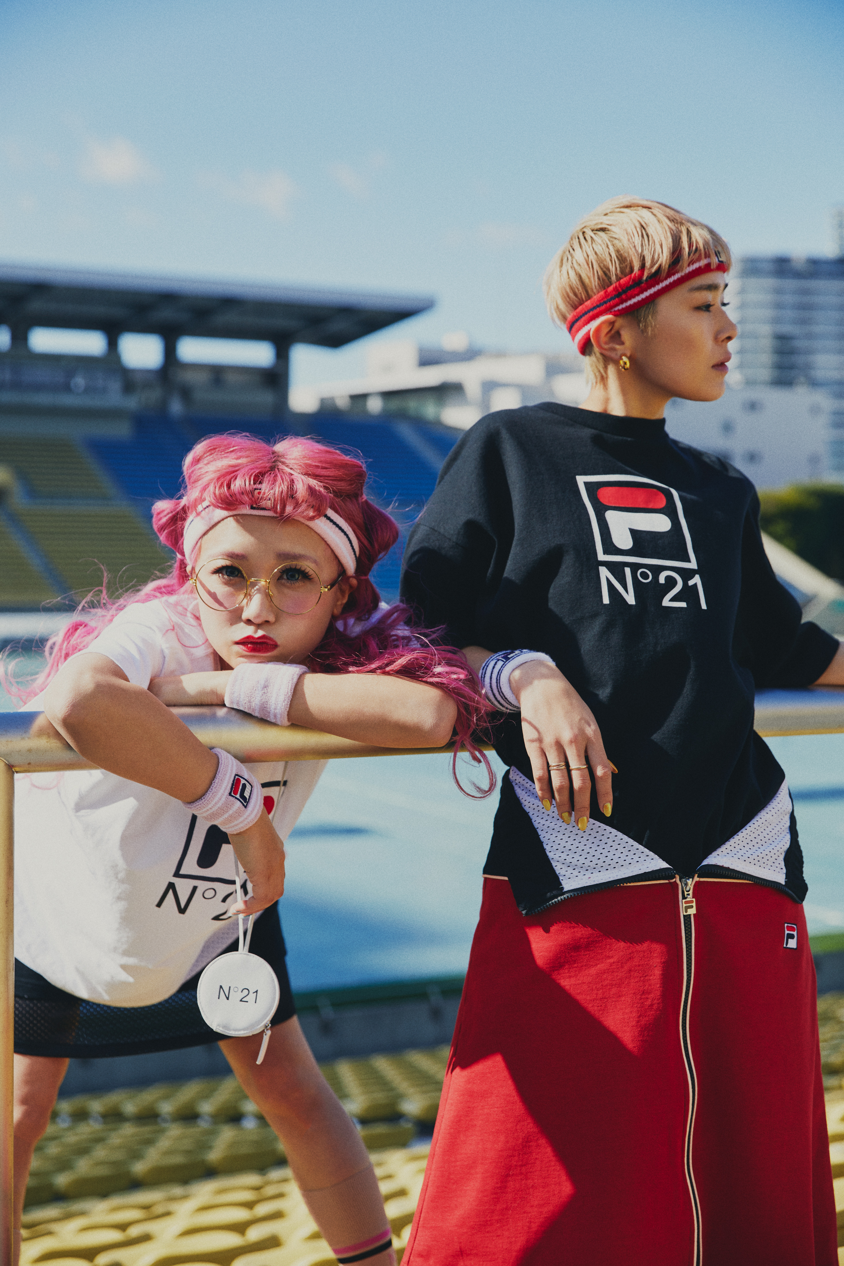 Looks from the N.21 X Fila Capsule Collection