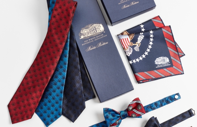 Looks from the Brooks Brothers-created collection for the White House Historical Association.