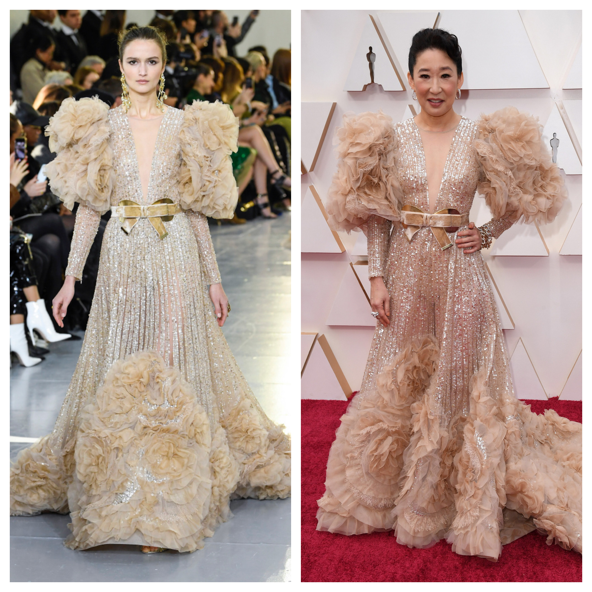 What Eight 2020 Oscars Red Carpet Dresses Looked Like on the Runway
