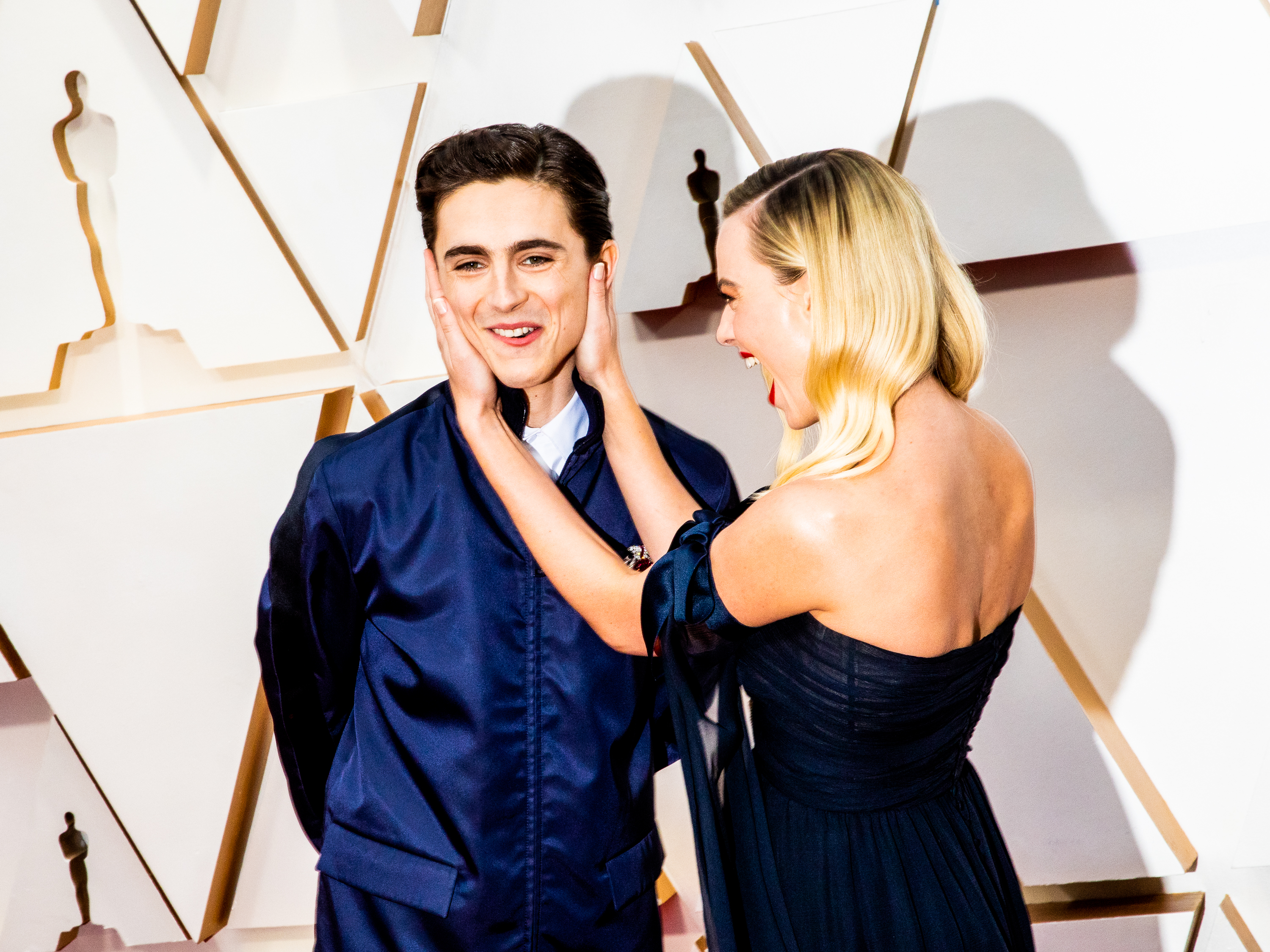 Timothee Chalamet and Margot Robbi