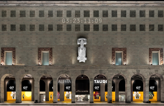 Red Bull's Alpha Tauri took over the Rinascente department store.
