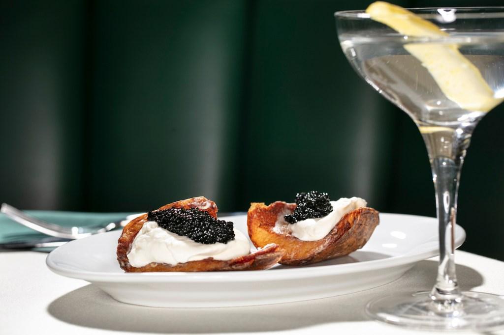 Potato Skins and Caviar at American Bar