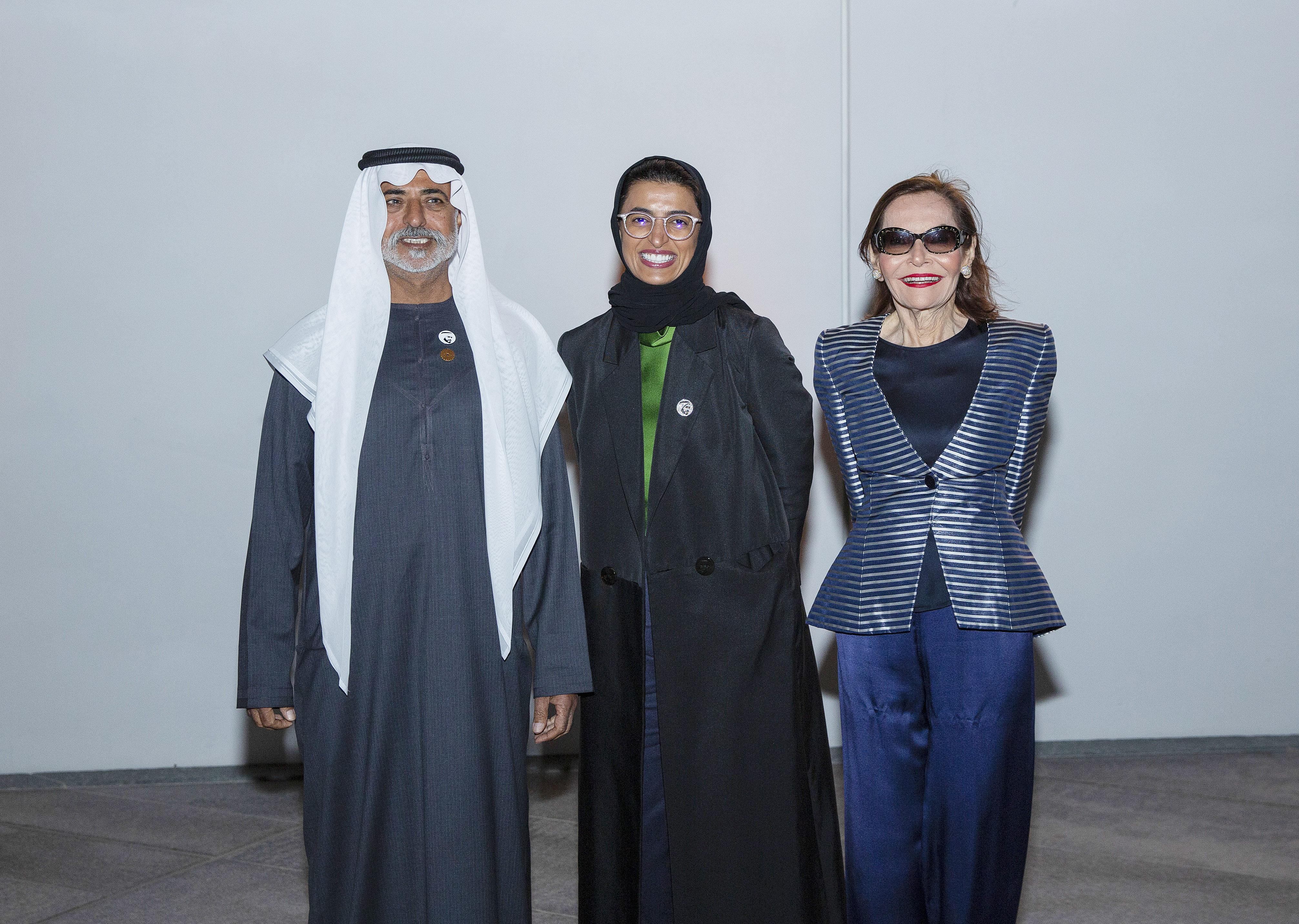 Sheikh Nahayan Bin Mubarak Al Nahayan, Noura Al Kaabi and Judith Price.